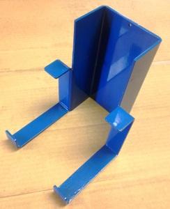 blue powder coated bracket