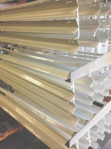 white powder coated angle brackets on rack